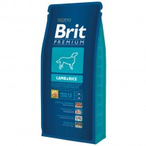 Фото 1 - Brit Premium Lamb & Rice 15 кг