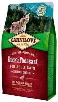 Фото 1 - Carnilove Cat 6 kg Duck & Pheasant - Hairball Controll