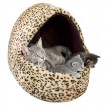 """Фото 2 - Trixie домик для кота """"Leо"""" меховый 40 х 35 х 35 см"""