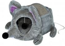 """Фото 1 - Trixie домик для кота """"Lukas"""" с дряпкой 35 х 33 х 65 см, серый"""
