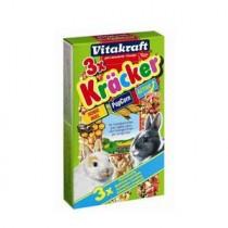 Фото 1 - Vitakraft - крекер для кроликов с овощами и попкорном (3 шт)