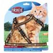 Trixie поводок+шлея 34-57 см, 13 мм коричневая