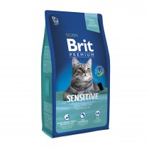 Фото 1 - Brit Premium Cat Adult Sensitive 8 кг