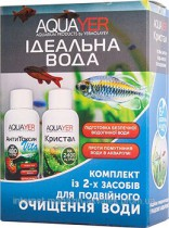 Фото 1 - Aquayer Набор препаратов для аквариума AQUAYER Идеальная вода 2х60 мл