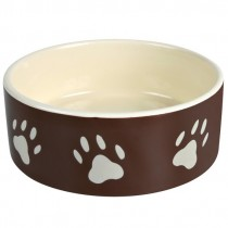 Фото 1 - Trixie Миска керамическая Trixie с лапками коричневая, 0,3 л